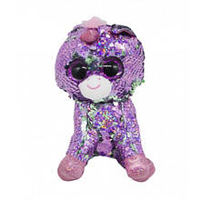 Мягкая игрушка Глазастик с пайетками: фиолетовый единорог
