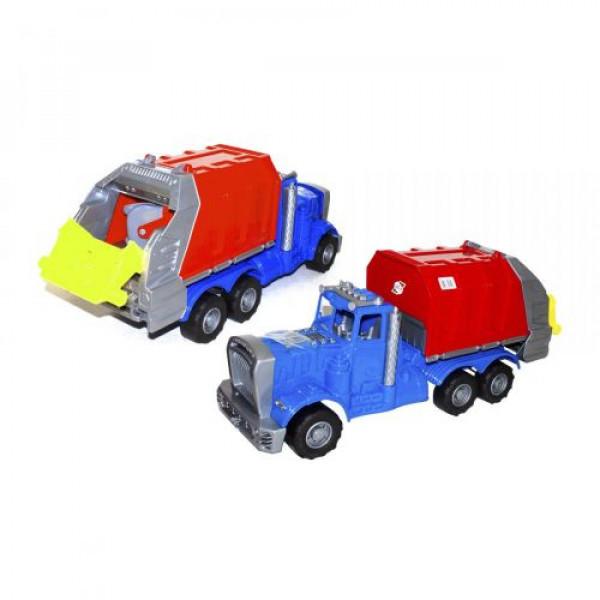 Машина пластиковая Мусоровоз, синяя