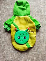 Кофта утепленная зеленая одежда для собак размер L