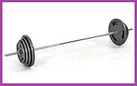 Разборная штанга для дома на 57 кг,Гантели и штанги стальные для фитнеса, Штанги грифы диски металлические