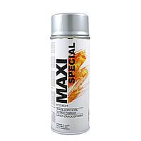 Краска аэрозольная термостойкая серебро Maxi Color 650°С (MX0007) 400мл