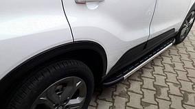Suzuki Vitara 2015↗ рр. Бічні пороги Duru (2 шт., алюміній)