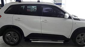 Suzuki Vitara 2015↗ рр. Бічні пороги Bosphorus OLD Grey (2 шт., алюміній)