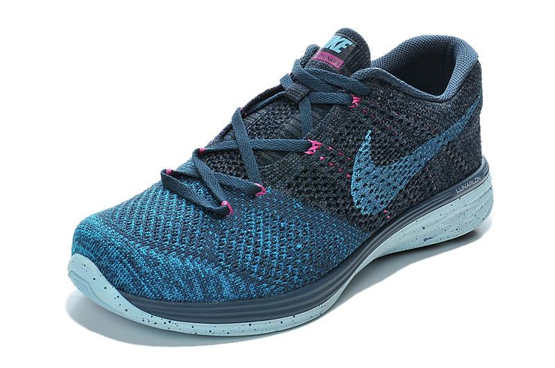 9a42ca27 Женские кроссовки Nike Flyknit Lunar 3 синие - Интернет магазин обуви Shoes-Mania  в Днепре