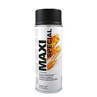 Краска аэрозольная термостойкая черная Maxi Color 650°С (MX0008) 400мл