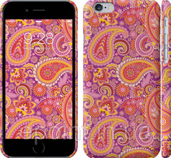 """Чехол на iPhone 6s Красно-фиолетовые турецкие огурцы """"1118c-90"""""""