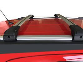 BMW X6 F-16 2014-2019 гг. Поперечный багажник на интегрированые рейлинги (с ключем) Серые