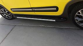 Fiat 500X Бічні пороги Duru (2 шт., алюміній)