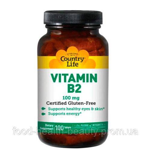 Vitamin B2 (Витамин В2) 100 мг 100 таблеток ТМ Кантри Лайф / Country Life