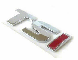 Напис TSI (прямий шрифт) TS - хром, I - червона Volkswagen Tiguan 2007-2016 рр.