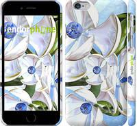 "Чехол на iPhone 6s Металлические цветы ""1921c-90"""