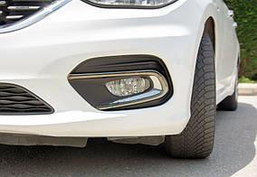 Fiat Tipo 2016↗ рр. Окантовка протитуманних ліхтарів (Sedan) ABS-хром