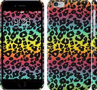"""Чехол на iPhone 6s Радужная шкура леопарда """"1113c-90"""""""