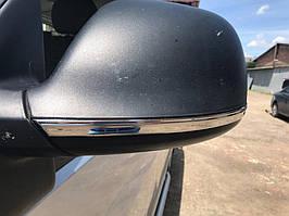 Полоски на зеркала (2 шт, нерж) Volkswagen Amarok
