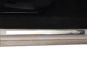 Накладки на пороги OmsaLine тип 1 (4 шт, нерж) Volkswagen Passat B8 2015↗ гг.