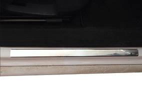 Volkswagen Passat B8 2015↗ рр. Накладки на пороги OmsaLine тип 1 (4 шт, нерж)
