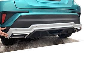 Toyota C-HR Передняя и задняя накладки (2 шт, пласт)