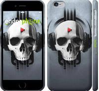 """Чехол на iPhone 6s Череп-меломан """"757c-90"""""""