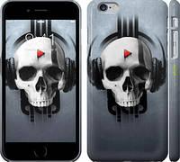 """Чехол на iPhone 6s Plus Череп-меломан """"757c-91"""""""