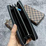 Кожаный кошелек Louis Vuitton CK1722 серый, фото 3