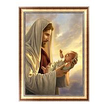 Картина алмазами Даймонд Иисус и младенец 40*30 1шт (0212)