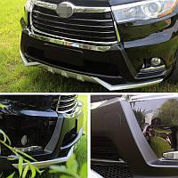 Toyota Highlander 2014↗ рр. Передня і задня накладки (2 шт)