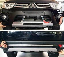 Передня і задня накладки (2013-2015) Mitsubishi Pajero Sport 2008-2015 рр.