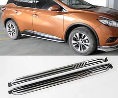 Nissan Murano 2014↗ рр. Бічні підніжки V2 (2 шт)