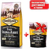 Сухий корм для собак Carnilove Fresh Chicken & Rabbit зі свіжим м'ясом курки і кролика 12 кг