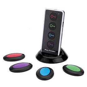 Брелок для пошуку ключів і предметів антипотеряшка DZGOGO Key Finder F840 з 4-ма маячками + ліхтарик (00791)