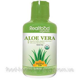 Real food organics Aloe Vera (Алоэ вера) 944 мл ТМ Кантри Лайф / Country Life