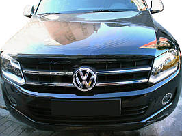 Накладки на решетку (узкие полоски, 4 шт, нерж) Carmos - Турецкая сталь Volkswagen Amarok