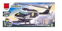 """Конструктор """"Полицейский вертолёт"""" 76 деталей Brick-123"""