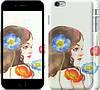 """Чехол на iPhone 6s Plus Девушка акварелью v3 """"3030c-91"""""""