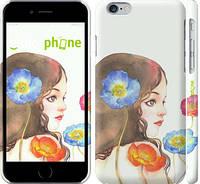"Чехол на iPhone 6s Девушка акварелью v3 ""3030c-90"""