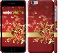 """Чехол на iPhone 6s Ажурные сердца """"734c-90"""""""
