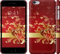 """Чехол на iPhone 6s Plus Ажурные сердца """"734c-91"""""""