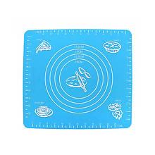 Силиконовый коврик Lesko Silicone Mat для раскатки теста выпекания в духовке 002 29x26 Blue