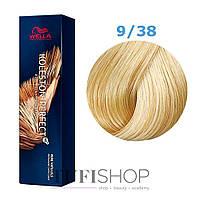Краска для волос Wella Koleston Perfect № 9/38 (светлый блондин золотой жемчуг) - rich naturals
