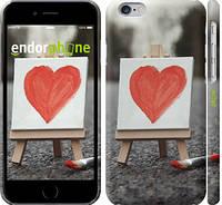 """Чехол на iPhone 6s Нарисованное сердце """"726c-90"""""""