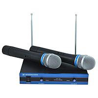Радиосистема двухканальная на 2 микрофона Sennheiser EW-100 Черный (in-141)