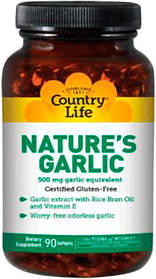 Natures Garlic (Натуральний часник) 180 капсул ТМ Кантрі Лайф / Country Life