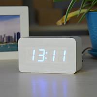 Электронные настольные часы VST 863-5 White (DM-275)