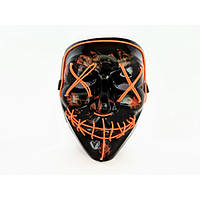 Неоновая маска Purge Mask Судная ночь Оранжевая (DM-392)
