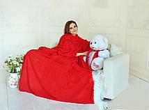 Плед с рукавами двухслойный флис Premium Красный HMD 100-9722115