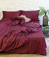 Постельное белье Viluta Сатин Страйп 79 Двуспальный Бордовый (1005130)