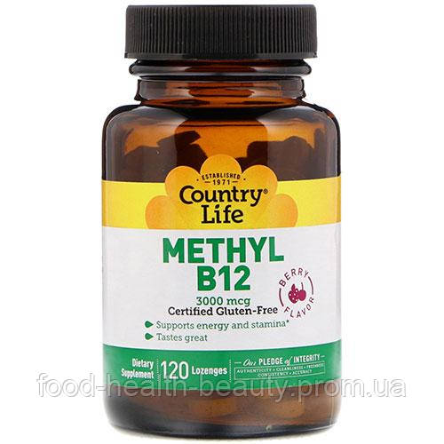 Комплекс Methyl B12 3000 мкг ТМ Кантрі Лайф / Country Life 120 пастилок