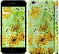 """Чехол на iPhone 6s Цветы на зелёном фоне """"1823c-90"""""""