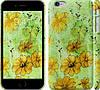 """Чехол на iPhone 6s Plus Цветы на зелёном фоне """"1823c-91"""""""