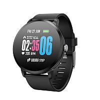 Умные часы фитнес браслет Lemfo V11 с тонометром и пульсоксиметром Черный